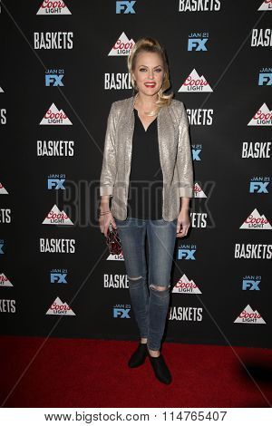 vLOS ANGELES - JAN 14:  Elaine Hendrix at the Baskets Red Carpet Event at the Pacific Design Center on January 14, 2016 in West Hollywood, CA