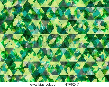 Abstract Shapes Triangle Background Green