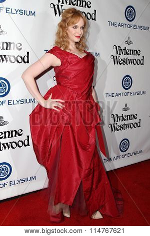 vLOS ANGELES - JAN 9:  Christina Hendricks at the The Art of Elysium Ninth Annual Heaven Gala at the 3LABS on January 9, 2016 in Culver City, CA