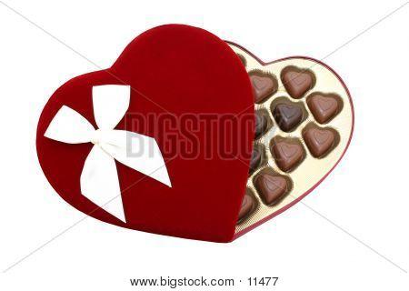 Caja de corazón en forma de Chocolates con Clipping Path (8.2mp imagen)