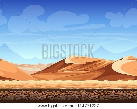 Vector Seamless Background Desert