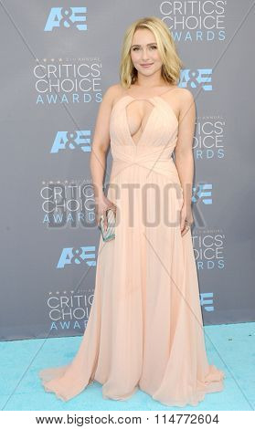 Hayden Panettiere at the 21st Annual Critics' Choice Awards held at the Barker Hangar in Santa Monica, USA on January 17, 2016.
