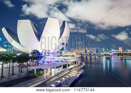 SINGAPORE - 19 May, 2014: Marina Bay central business district in Singapore.