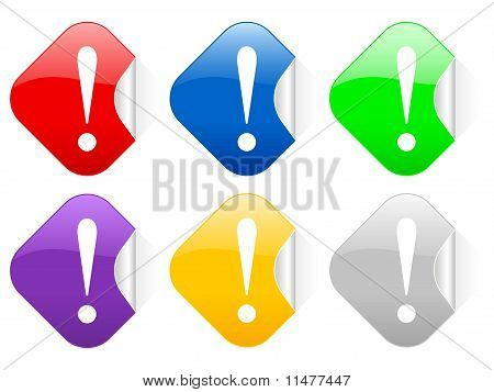 Exclamation Mark Square Stickers