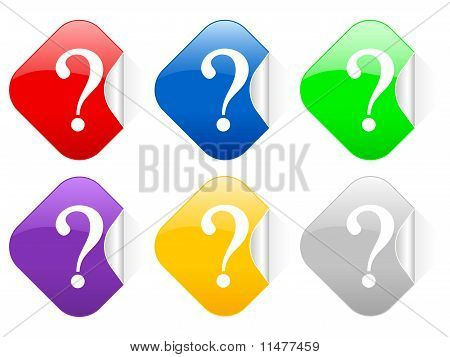 Question Square Stickers