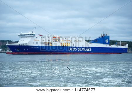 DFDS SEAWAYS ship ATHENA in Klaipeda harbor