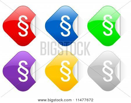 Paragraph Square Stickers