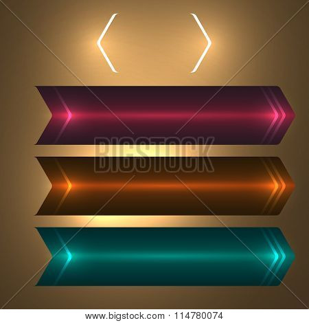 Banner Set Shooter Glow Effect Of Noble Background