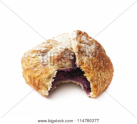 Sweet pastry pocket isolated