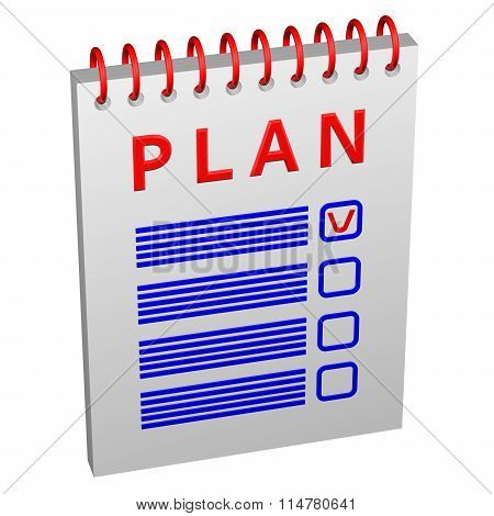 Notepad With Word Plan