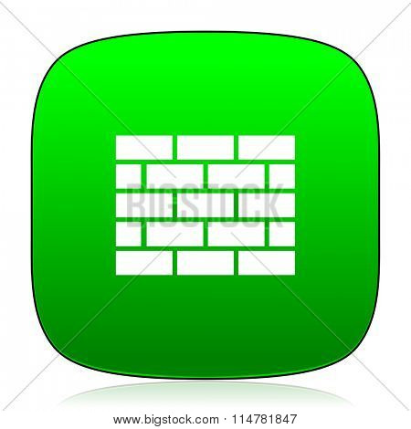 firewall green icon for web and mobile app