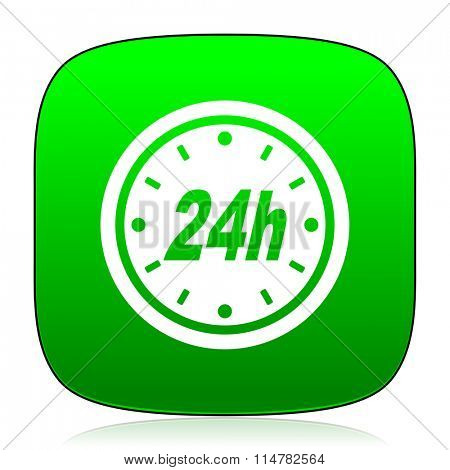 24h green icon for web and mobile app