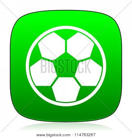 soccer green icon for web and mobile app