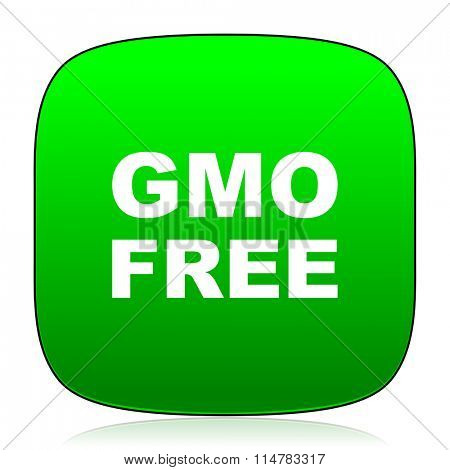 gmo free green icon for web and mobile app