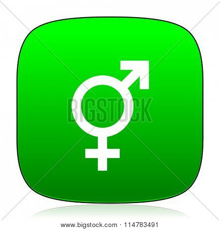 sex green icon for web and mobile app