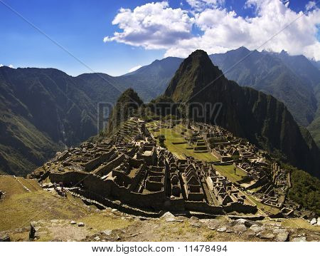 Machu Picchu In The Afternoon Harsh Sun