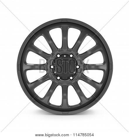 Car Wheel, Car Alloy Rim On White Background