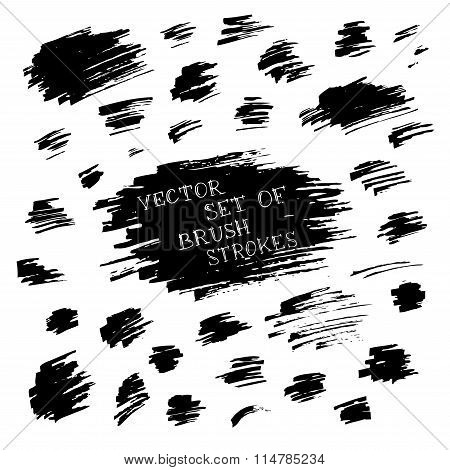 Vector Set Of Ink Flourishes.