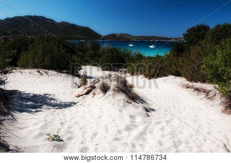 sardinia landscape wight sand
