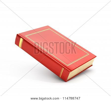 3D Render Of Red Empty Book.