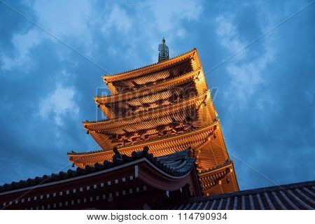 View Of The Asakusa Temple In Tokyo, Japan