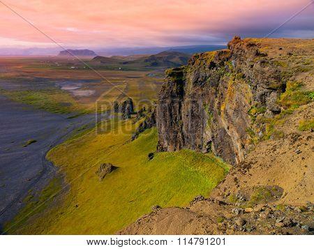 Dramatic rocky coastline landscape of Iceland