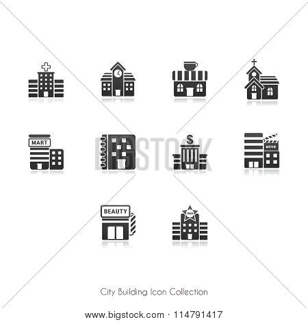 Vector Urban Infrastructure Icon Collection