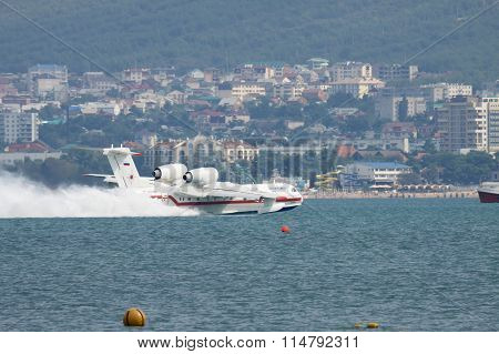 Seaplane Takeoff From Water