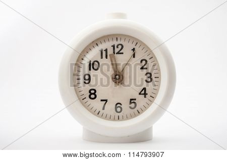 Old Clock On White Background