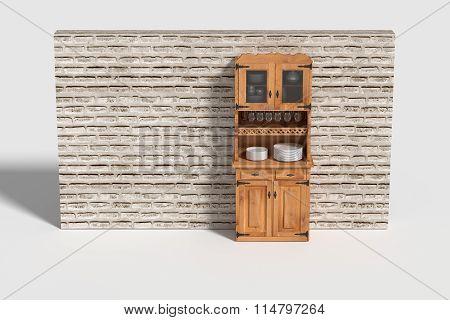 Three-dimensional Sideboard