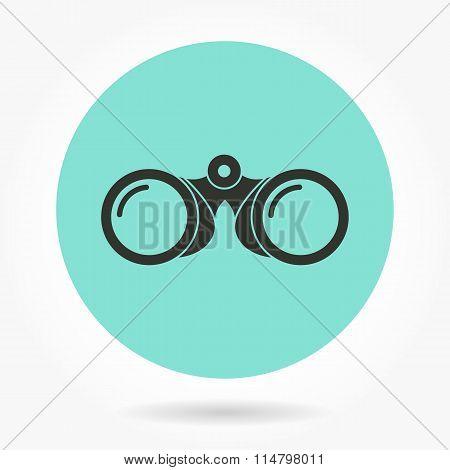 Binocular - Vector Icon.