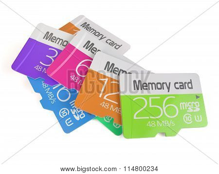 Colorful Memory Micro Sd Card Heap