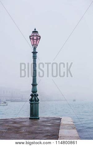 Fog View On Palazzo Ducale, Venice, Italy