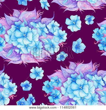Vintage Watercolor Floral Pattern
