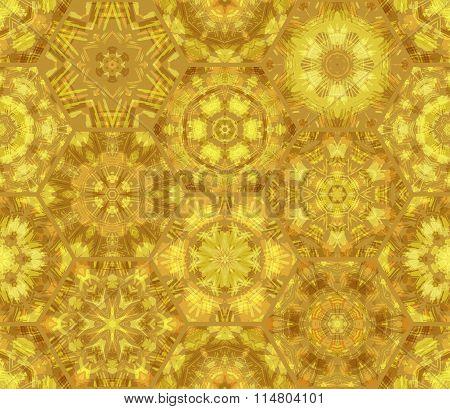 Seamless Luminous Gold Pattern.
