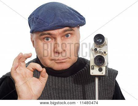 Cinematographer Camera Retro