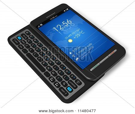 Side slider touchscreen smartphone