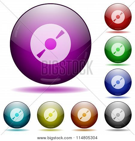 Dvd Glass Sphere Buttons