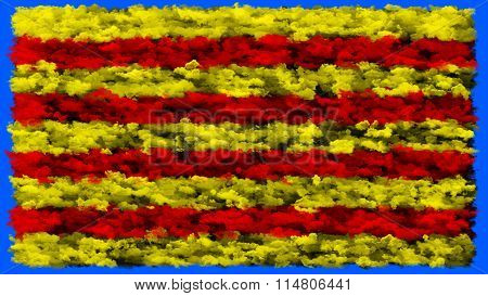 Flag of Catalonia, Catalan Flag made from clouds