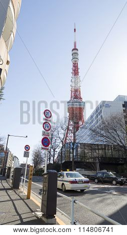 Cityscape With Television Tower In Tokyo
