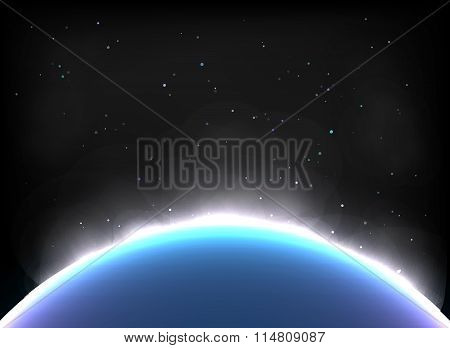 Magic Space  planets, stars Vector