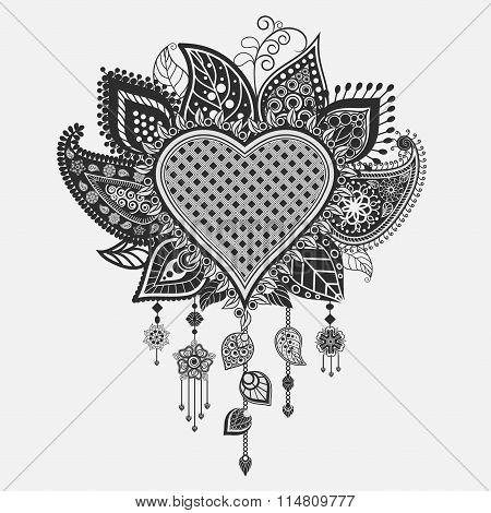 Floral heart - dream catcher