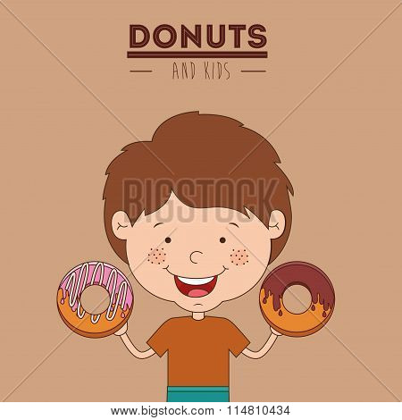 donuts and kids design