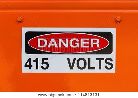 Electrical Voltage Existing Danger Sign