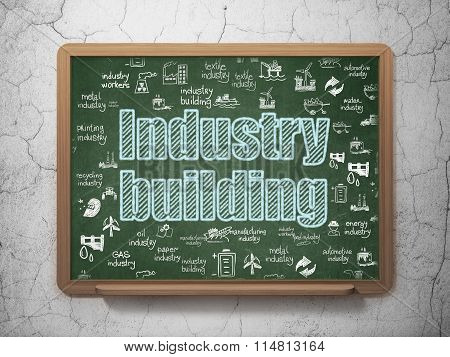 Industry concept: Industry Building on School Board background