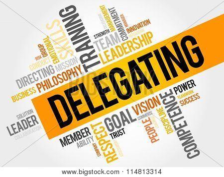 Delegating Word Cloud