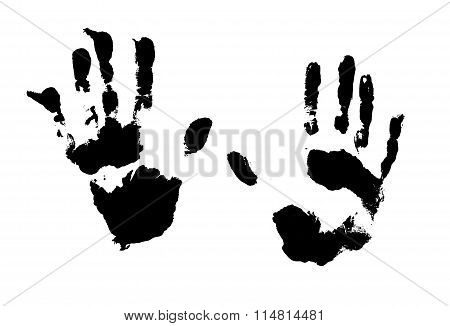 Vector splatter hands print.