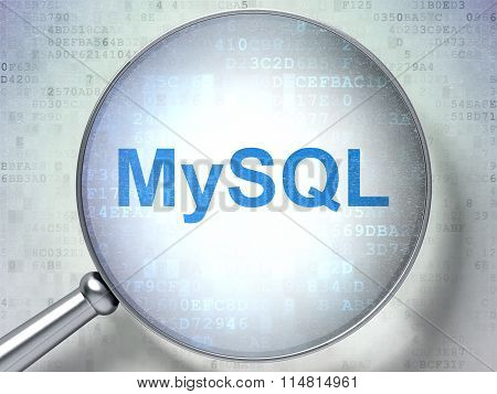Software concept: MySQL with optical glass