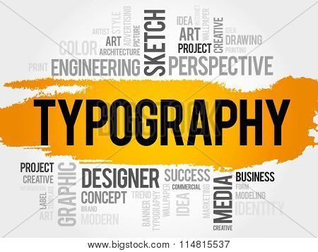 Typography Word Cloud