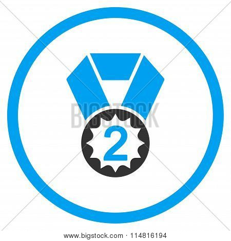 Second Place Medal Flat Icon